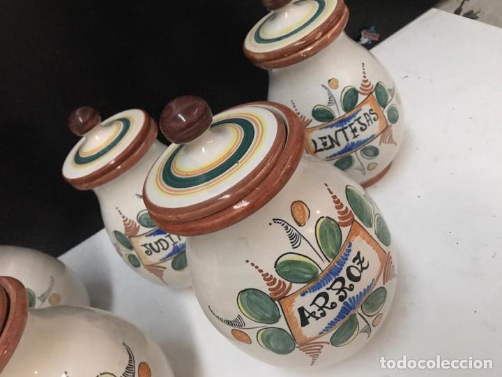 Antigüedades: Lote de tarros de cocina cerámica puente del arzobispo años 70 - Foto 3 - 193975796