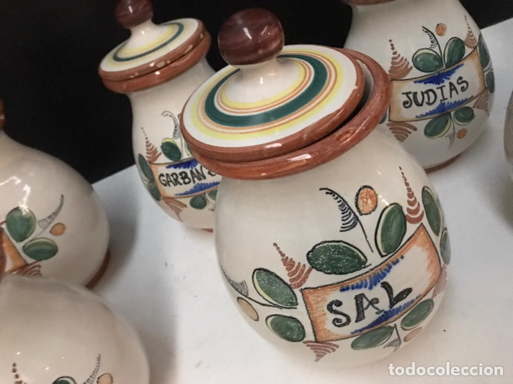 Antigüedades: Lote de tarros de cocina cerámica puente del arzobispo años 70 - Foto 4 - 193975796