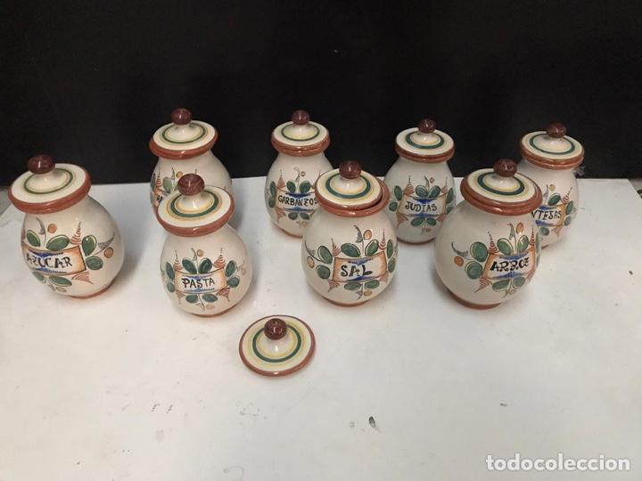 LOTE DE TARROS DE COCINA CERÁMICA PUENTE DEL ARZOBISPO AÑOS 70 (Antigüedades - Porcelanas y Cerámicas - Puente del Arzobispo )
