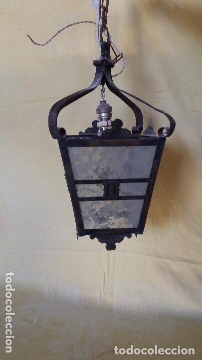 ANTIGUA LÁMPARA EXTERIOR SIGLOS ANTERIORES (Antigüedades - Iluminación - Faroles Antiguos)