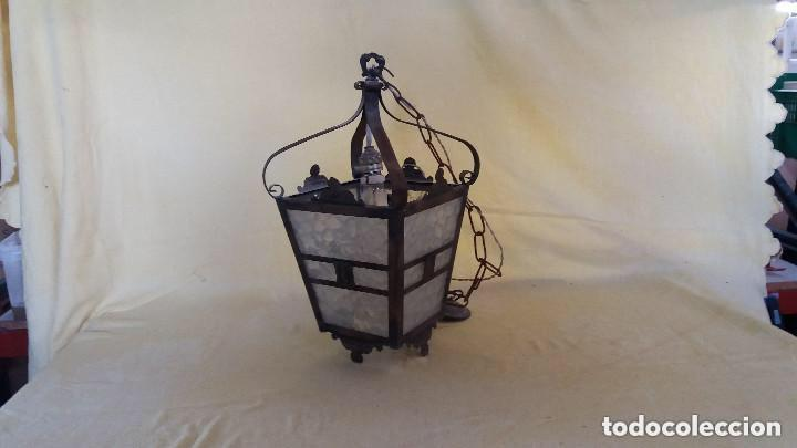 Antigüedades: Antigua lámpara exterior siglos anteriores - Foto 3 - 193988143