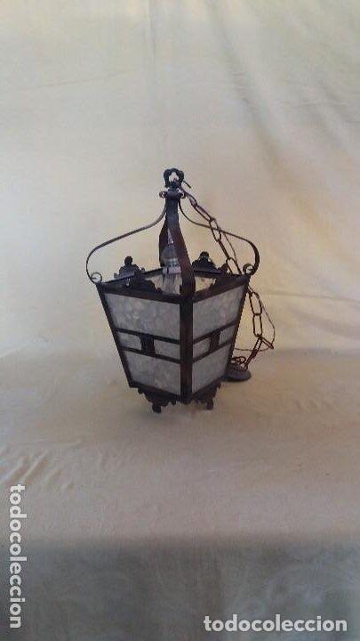 Antigüedades: Antigua lámpara exterior siglos anteriores - Foto 4 - 193988143