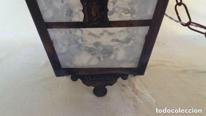 Antigüedades: Antigua lámpara exterior siglos anteriores - Foto 8 - 193988143
