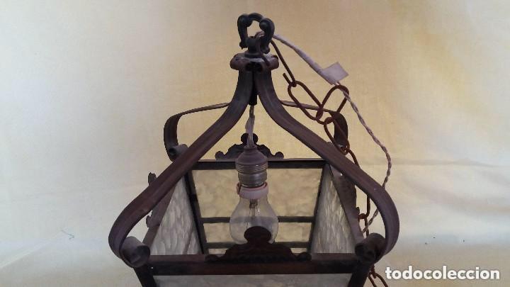 Antigüedades: Antigua lámpara exterior siglos anteriores - Foto 9 - 193988143