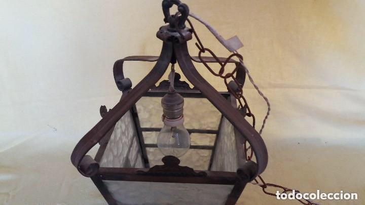 Antigüedades: Antigua lámpara exterior siglos anteriores - Foto 12 - 193988143