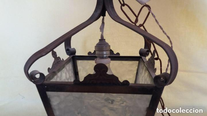 Antigüedades: Antigua lámpara exterior siglos anteriores - Foto 13 - 193988143