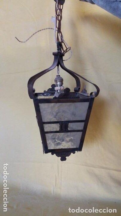Antigüedades: Antigua lámpara exterior siglos anteriores - Foto 16 - 193988143