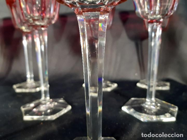 Antigüedades: 12 copas cristal. Baccarat. Modelo Harcourt. Perfectas. Francia. - Foto 6 - 193988213