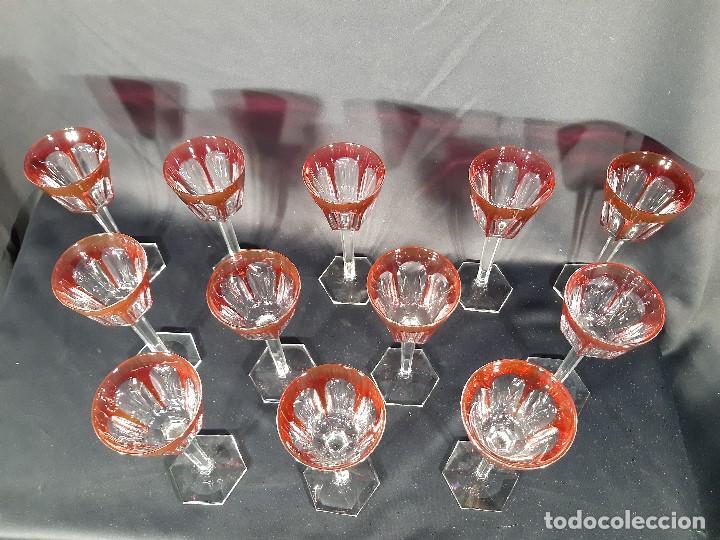 Antigüedades: 12 copas cristal. Baccarat. Modelo Harcourt. Perfectas. Francia. - Foto 13 - 193988213
