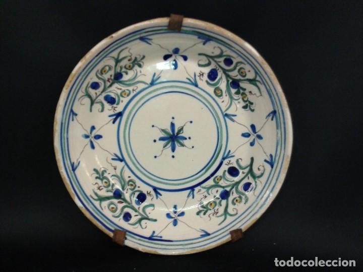 "PLATO CERÁMICA. FIRMADO "" I "". MANISES. VALENCIA. SIGLO XIX. (Antigüedades - Porcelanas y Cerámicas - Manises)"