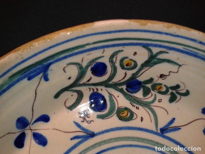"Antigüedades: Plato cerámica. Firmado "" I "". Manises. Valencia. Siglo XIX. - Foto 3 - 194004592"