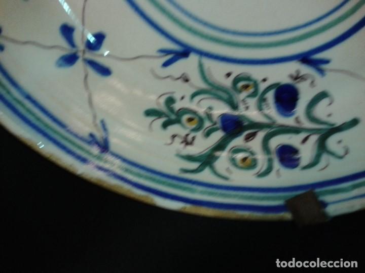 "Antigüedades: Plato cerámica. Firmado "" I "". Manises. Valencia. Siglo XIX. - Foto 4 - 194004592"