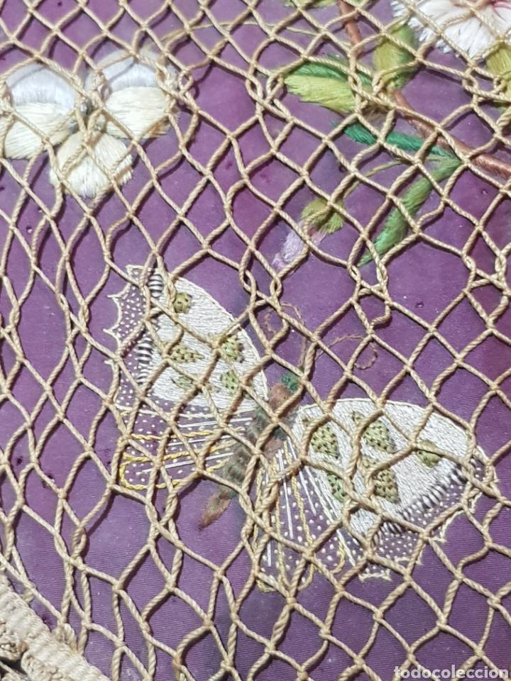Antigüedades: Alforja o bandolera piel bordados de seda tipo arte pastoril tipo romería Muy antigua. - Foto 12 - 194007748