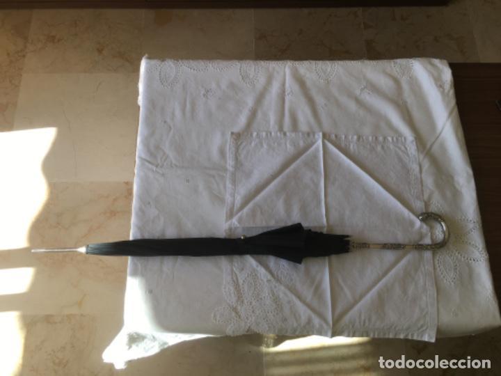 PARAGUAS CON MANGO DE PLATA (Antigüedades - Platería - Plata de Ley Antigua)