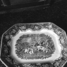 Antigüedades: FUENTE OCHAVADA DE CERÁMICA DE CARTAGENA SIGLO XIX. Lote 194012516