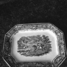 Antigüedades: FUENTE OCHAVADA DE CERÁMICA DE CARTAGENA SIGLO XIX. Lote 194012998