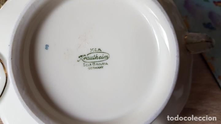 Antigüedades: Estupenda tetera en porcelana alemán, echa/pintada a mano sellada KyA krautheim.Selb made in Germani - Foto 6 - 194027378