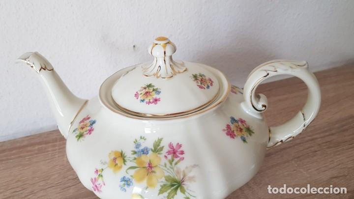 Antigüedades: Estupenda tetera en porcelana alemán, echa/pintada a mano sellada KyA krautheim.Selb made in Germani - Foto 9 - 194027378