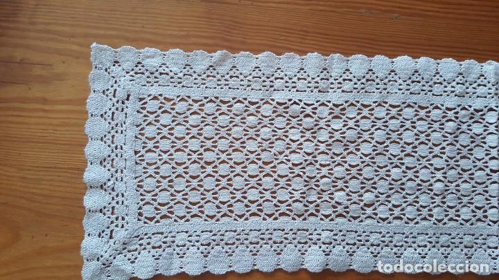 Antigüedades: Centro de mesa-Tapete ganchillo/crochet - Rectangular: 30 cm x 110 cm - Foto 2 - 194059437
