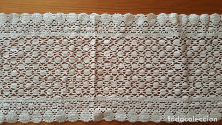 Antigüedades: Centro de mesa-Tapete ganchillo/crochet - Rectangular: 30 cm x 110 cm - Foto 3 - 194059437