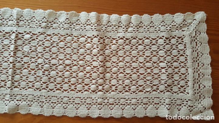 Antigüedades: Centro de mesa-Tapete ganchillo/crochet - Rectangular: 30 cm x 110 cm - Foto 4 - 194059437
