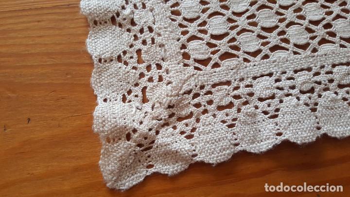 Antigüedades: Centro de mesa-Tapete ganchillo/crochet - Rectangular: 30 cm x 110 cm - Foto 5 - 194059437