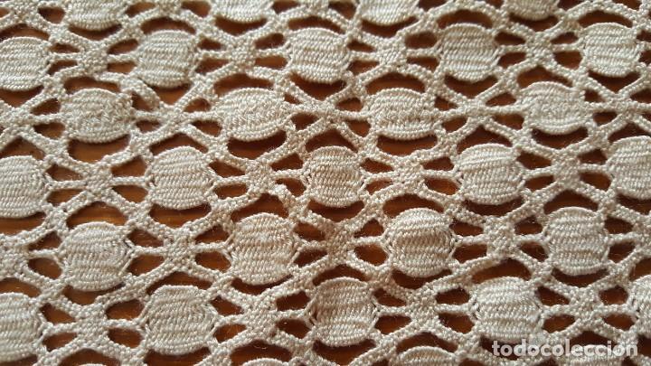 Antigüedades: Centro de mesa-Tapete ganchillo/crochet - Rectangular: 30 cm x 110 cm - Foto 6 - 194059437