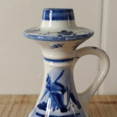 Antigüedades: FLORERO PARA SOLO UNA FLOR, ROSA O TULIPÁN ALTURA 11 CM. Lote 194060791