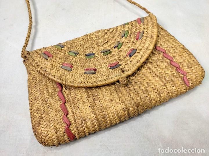 BOLSO DE PAJA DE CENTENO (Antigüedades - Moda - Bolsos Antiguos)