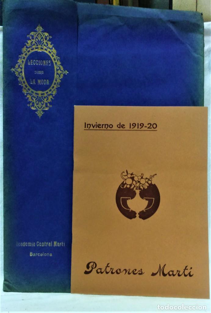 Antigüedades: LECCIONES SOBRE LA MODA.ACADÉMIA CENTRAL MARTÍ,BARCELONA.PATRONES Y LÁMINAS.INVIERNO 1919-20 - Foto 2 - 194070976