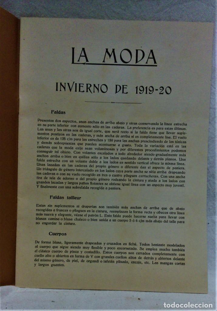 Antigüedades: LECCIONES SOBRE LA MODA.ACADÉMIA CENTRAL MARTÍ,BARCELONA.PATRONES Y LÁMINAS.INVIERNO 1919-20 - Foto 3 - 194070976
