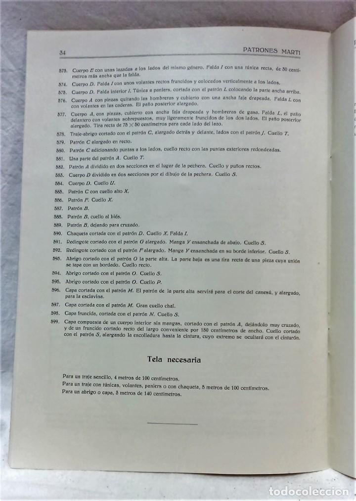 Antigüedades: LECCIONES SOBRE LA MODA.ACADÉMIA CENTRAL MARTÍ,BARCELONA.PATRONES Y LÁMINAS.INVIERNO 1919-20 - Foto 8 - 194070976