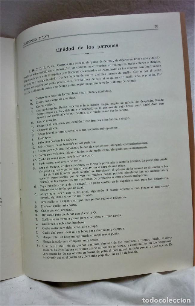 Antigüedades: LECCIONES SOBRE LA MODA.ACADÉMIA CENTRAL MARTÍ,BARCELONA.PATRONES Y LÁMINAS.INVIERNO 1919-20 - Foto 9 - 194070976