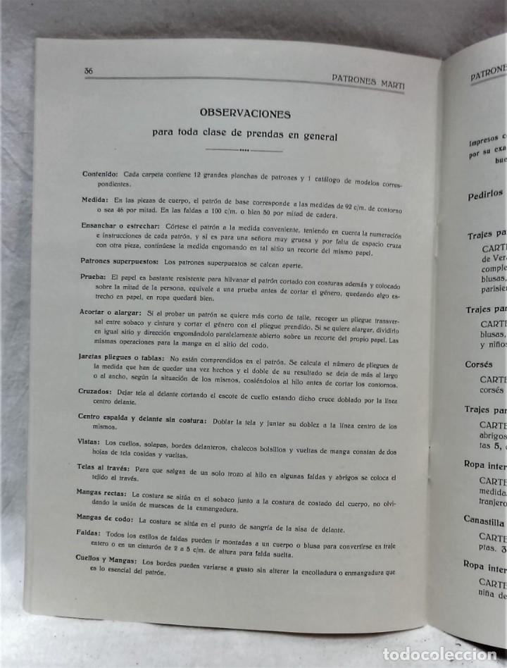 Antigüedades: LECCIONES SOBRE LA MODA.ACADÉMIA CENTRAL MARTÍ,BARCELONA.PATRONES Y LÁMINAS.INVIERNO 1919-20 - Foto 10 - 194070976