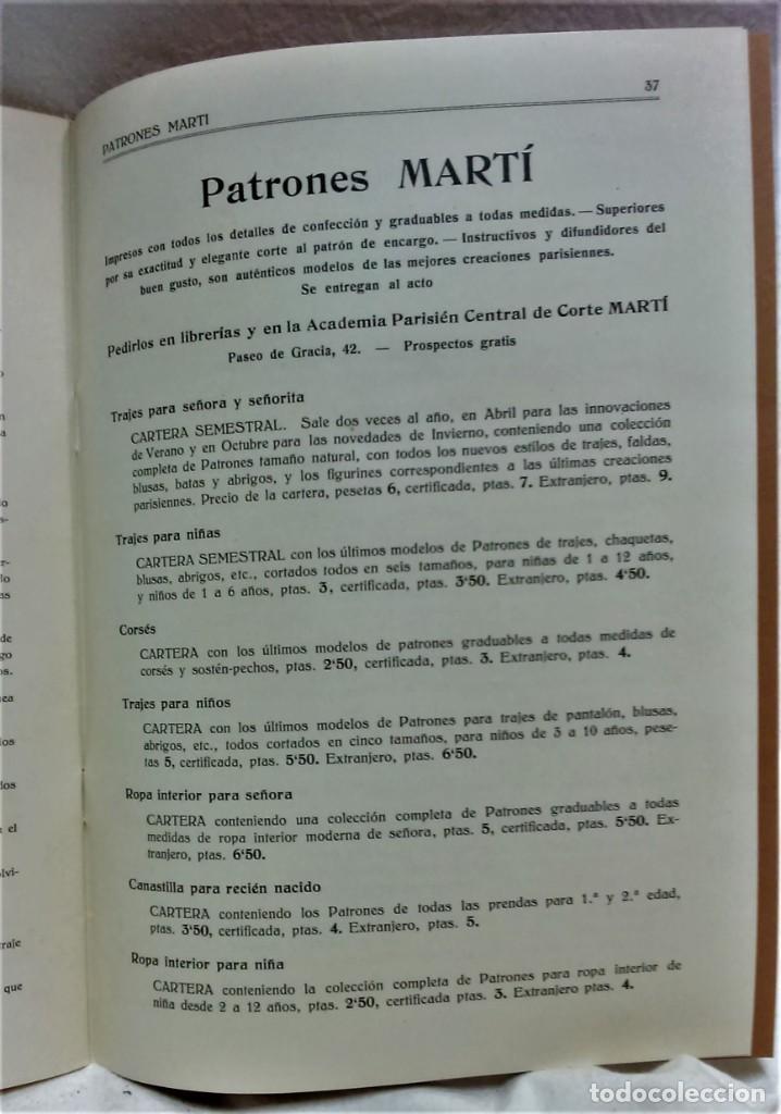 Antigüedades: LECCIONES SOBRE LA MODA.ACADÉMIA CENTRAL MARTÍ,BARCELONA.PATRONES Y LÁMINAS.INVIERNO 1919-20 - Foto 11 - 194070976