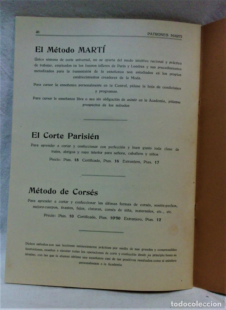 Antigüedades: LECCIONES SOBRE LA MODA.ACADÉMIA CENTRAL MARTÍ,BARCELONA.PATRONES Y LÁMINAS.INVIERNO 1919-20 - Foto 12 - 194070976