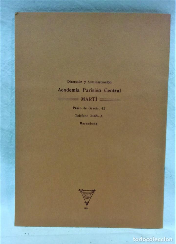 Antigüedades: LECCIONES SOBRE LA MODA.ACADÉMIA CENTRAL MARTÍ,BARCELONA.PATRONES Y LÁMINAS.INVIERNO 1919-20 - Foto 13 - 194070976
