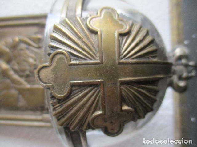 Antigüedades: Benditera pila cristal (Perpetuo socorro) - Foto 3 - 194077951