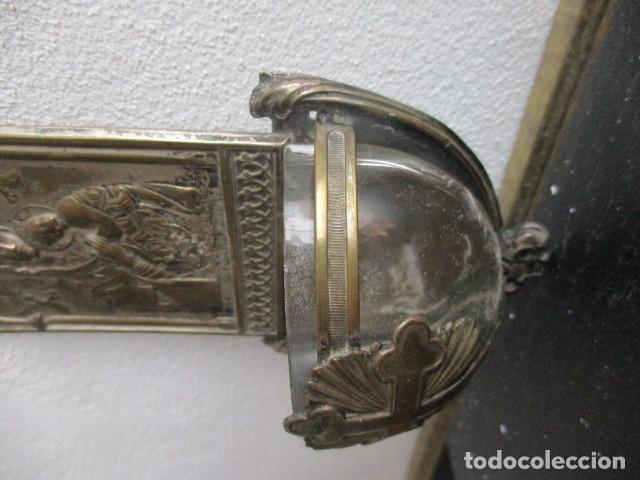 Antigüedades: Benditera pila cristal (Perpetuo socorro) - Foto 4 - 194077951