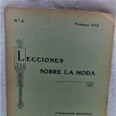Antigüedades: LECCIONES SOBRE LA MODA. VERANO 1912.PUBLICACIÓN SEMESTRAL.CORTE Y CONFECCIÓN MARTÍ. Lote 194084355