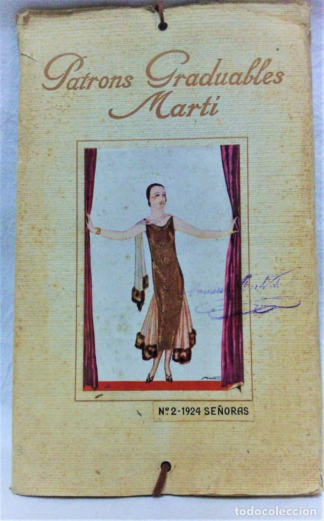 PATRONES GRADUABLES MARTÍ.LA MODA DE INVIERNO 1924-25.PATRONES Y MODELOS SEÑORAS. (Antigüedades - Moda - Otros)