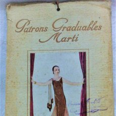 Antigüedades: PATRONES GRADUABLES MARTÍ.LA MODA DE INVIERNO 1924-25.PATRONES Y MODELOS SEÑORAS.. Lote 194084763