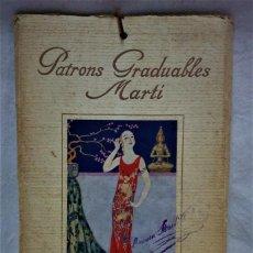 Antigüedades: PATRONES GRADUABLES MARTÍ. LA MODA DE VERANO 1924.PATRONES Y MODELOS SEÑORAS.. Lote 194085151