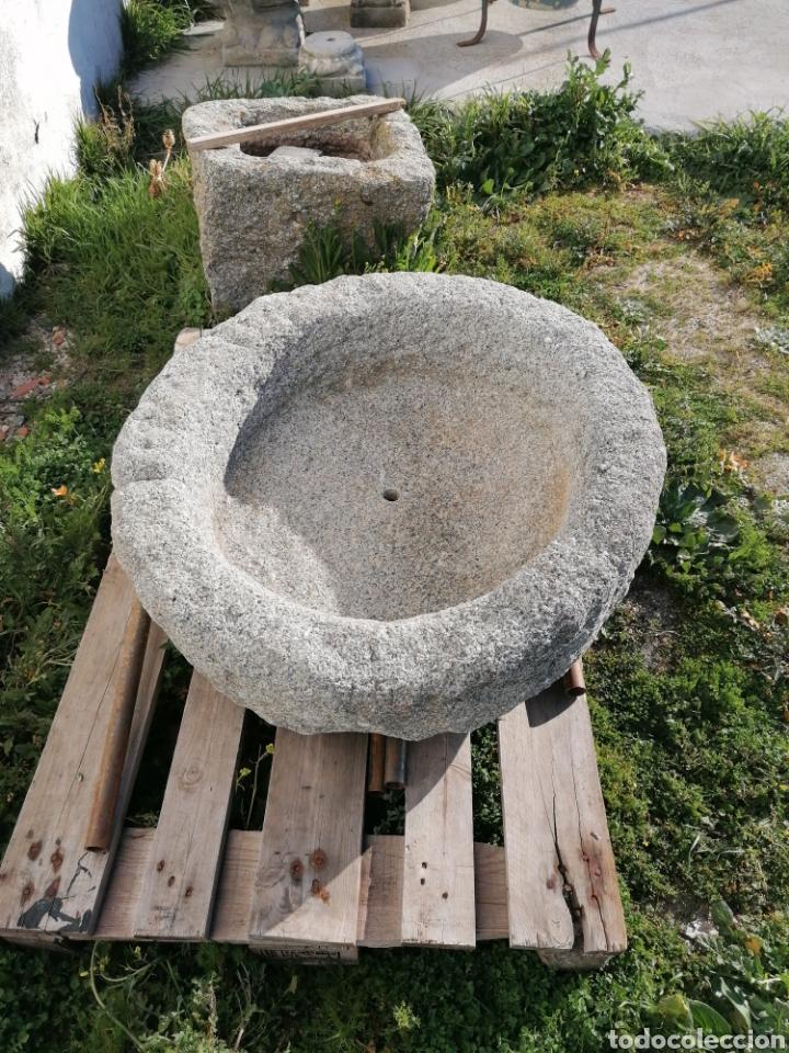 Antigüedades: Pila de granito antigua - Foto 2 - 194105346