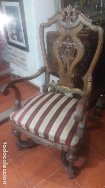 Antigüedades: Pareja sillones nogal - Foto 2 - 194105538