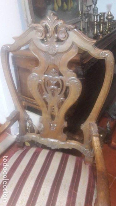 Antigüedades: Pareja sillones nogal - Foto 4 - 194105538