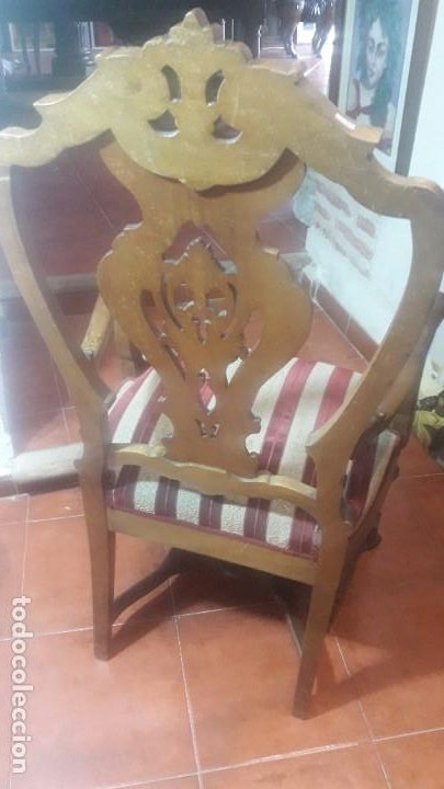 Antigüedades: Pareja sillones nogal - Foto 6 - 194105538