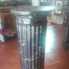 Antigüedades: SOPORTE DECORADO. Lote 194107423