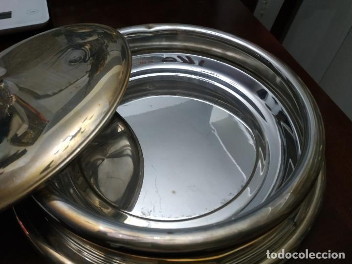 Antigüedades: Fuente 3 piezas alcó - Foto 3 - 194108621