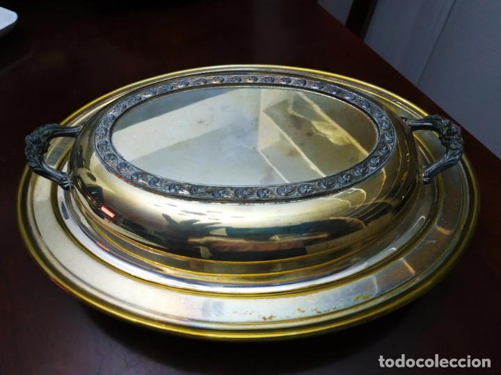 Antigüedades: Fuente 2 piezas ovalada superponibles - Foto 2 - 194109096